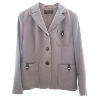 Loro Piana herringbone  cashmere jacket.