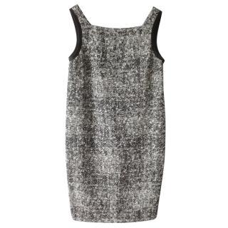 Black White Proenza Shouler Tweed Chiffon dress - uk 10