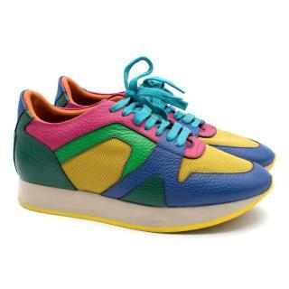 Burberry Prorsum Multicoloured Platform Sneakers