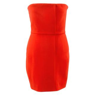 Victoria Beckham Strapless Red Mini Dress