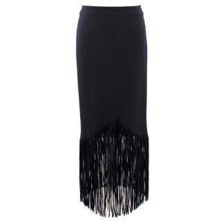 Tom Ford Black Tasseled Long Skirt