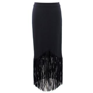 Tom Ford Black Tasseled Long Skirt