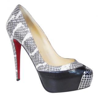 CHRISTIAN LOUBOUTIN Snakeskin platform heels