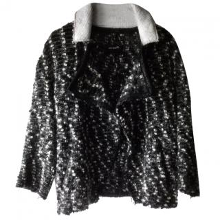 Isabel Marant Wool/ Leather Collar Cardigan