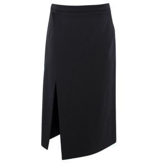 Balenciaga Black High-Slit Pencil Skirt
