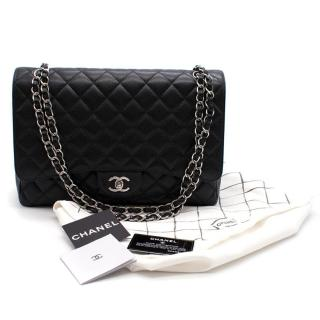 Chanel Black Caviar Leather Maxi Flap Bag