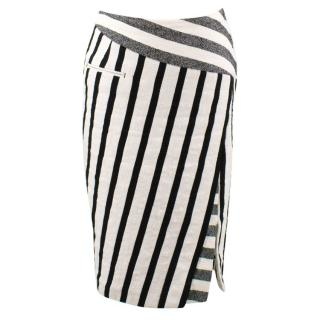 Altuzarra Stripped Monochrome Midi Skirt