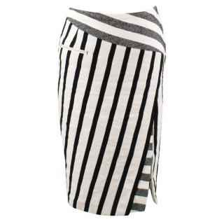 Altuzarra Stripped Monochrome Midi Skirt