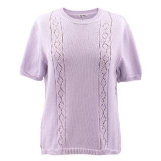 Miu Miu Lavender Knit Top