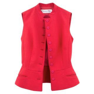 Christian Dior Pink Waistcoat Jacket