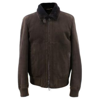 Lora Piana Dark Brown Sheepskin jacket