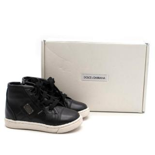 Dolce & Gabbana Boy's Black Lace Up Sneakers