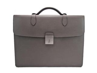 Mulberry single grey leather briefcase