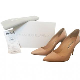 Manolo Blahnik BB 105 Nude Leather Courts