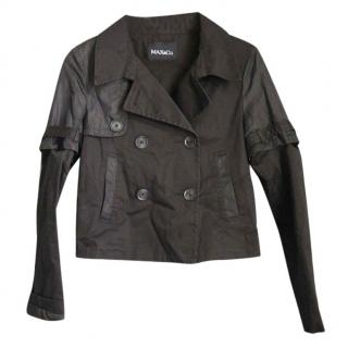 Max & Co Black Jacket with Removable Sleeves