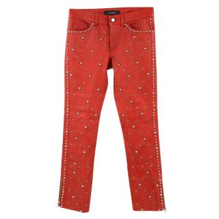 Isabel Marrant Leather Studded Skinny Pants