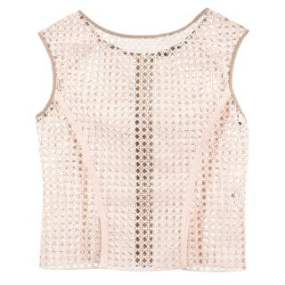Ermanno Scervino Nude Sleeveless Top