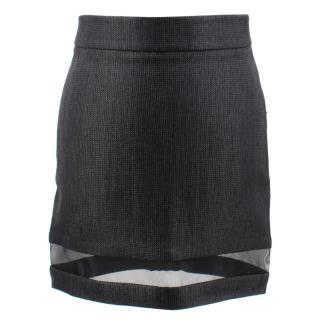 Tom Ford Mid Waist Textured Mini Skirt
