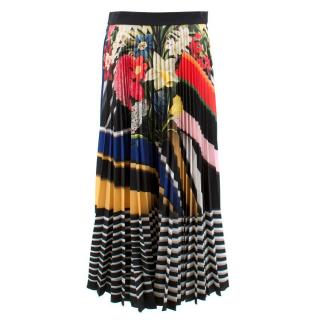 Mary Katrantzou Floral Printed Pleated Skirt