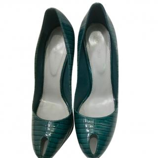 Sergio rossi Blue Peep Toe Heels