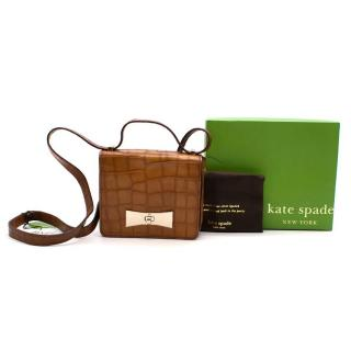 Kate Spade Brown 2 Park Avenue Exotic Caramel Bag