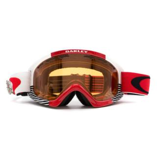 Oakley Red Goggles with Snowflake Pins