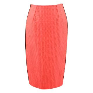 Victoria Beckham Polka Dot Bicolor Pencil Skirt
