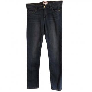 Paige Skyline Ankle Peg Blue Skinny Jeans