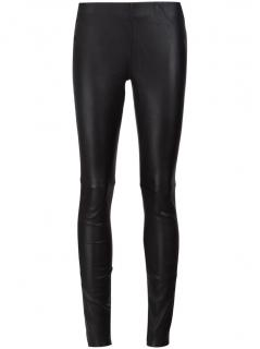 Anine Bing Black Leather Leggings - Current Season