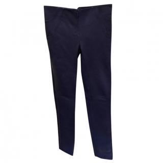 Luc Duchene Blue Leather Trousers