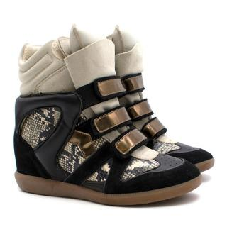 Isabel Marant Bonny Leather and Suede Trainers