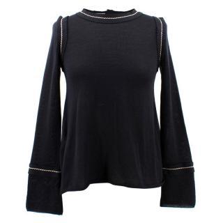 Prada Wool and Silk Slit Back Jumper