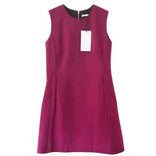 Victoria Victoria Beckham Pink Brushed Felt Dress