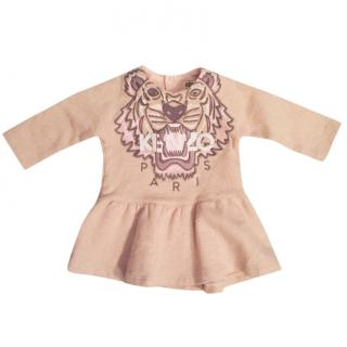 Kenzo baby pink sparkle tiger jumper dress