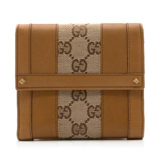 Gucci Canvas and Leather Monogram Wallet