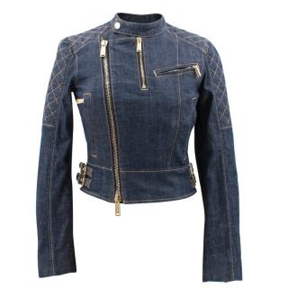 Dsquared High Neck Denim Jacket