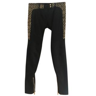 Balmain Black Size 42 Trousers