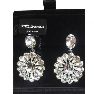 Dolce & Gabbana Natale crystal clip earrings