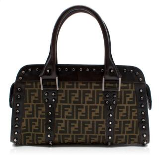 Fendi Brown Monogram Studded Bag