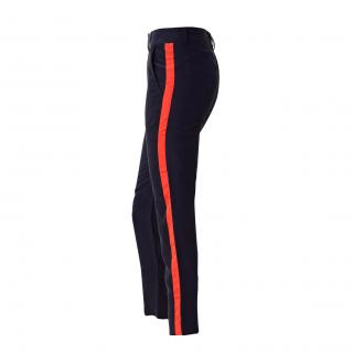 Harlyn navy peg leg trousers
