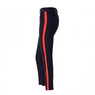 Harlyn navy peg leg trousers