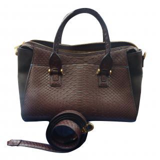Smythson Eliot handbag python