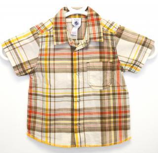 Petit Bateau tartan short-sleeved shirt
