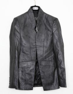 UNCONDITIONAL microfibre high collar cutaway jacket.