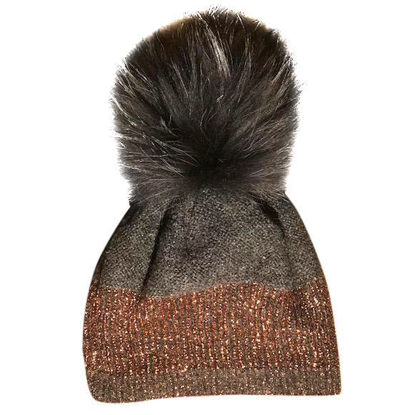 398ee823 Norton Racoon Fur Pom Pom Hat130224 | HEWI London