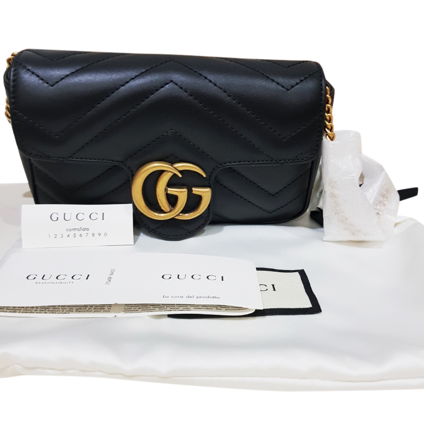354b9435eee742 Gg Marmont Matelasse Leather Super Mini Bag | HEWI London