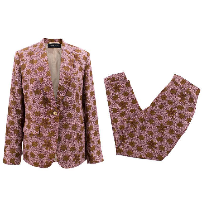 Arwa Al Banawi Floral Blazer and Trousers