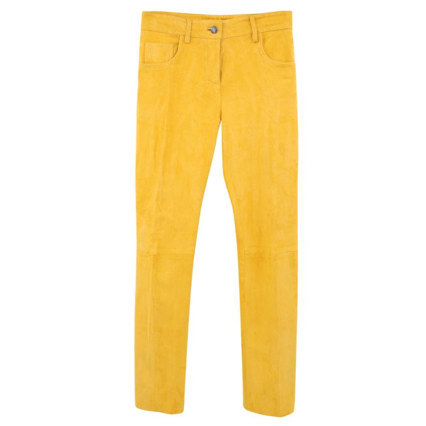Jitrois Lamb Velvet Mustard Trousers