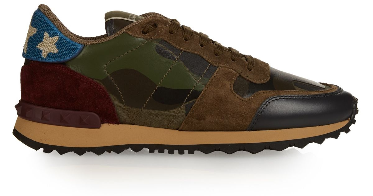 24eb4aea060ff Valentino Rockrunner Camouflage Print Trainers | HEWI London