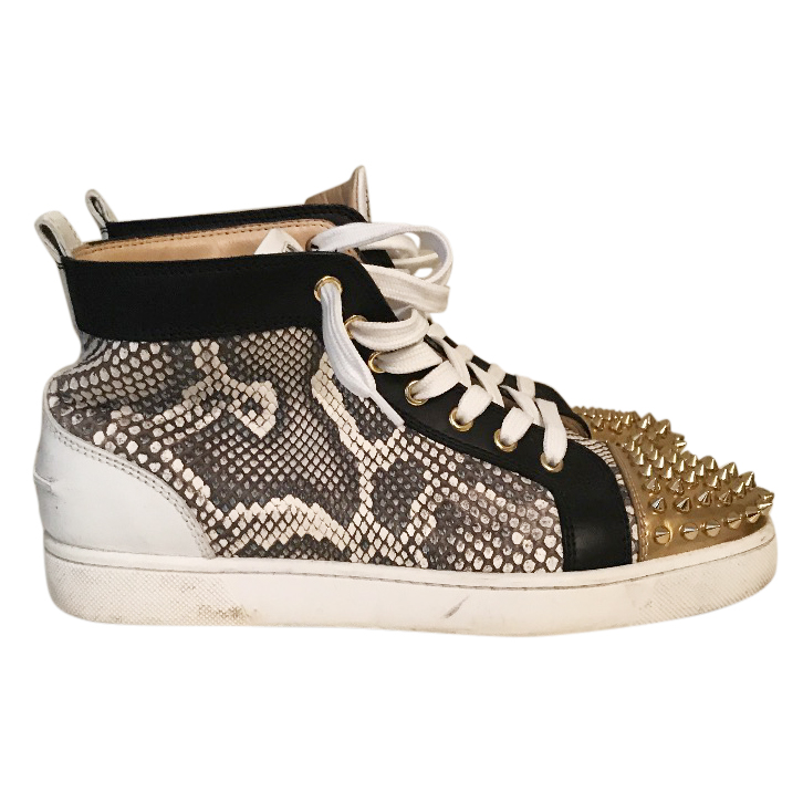 new concept 4fd20 80dd3 Christian Louboutin men's python /spike hightops